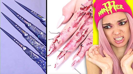 Самые длинные ногти Тик Тока — Марина
